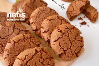 Teremyağlı Çikolatalı Çatlak Kurabiye Tarifi