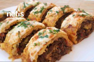 Teremyağlı Kıymalı Rulo Patates Tarifi