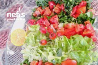 Turp Yapraklı Semizotlu Salata Tarifi