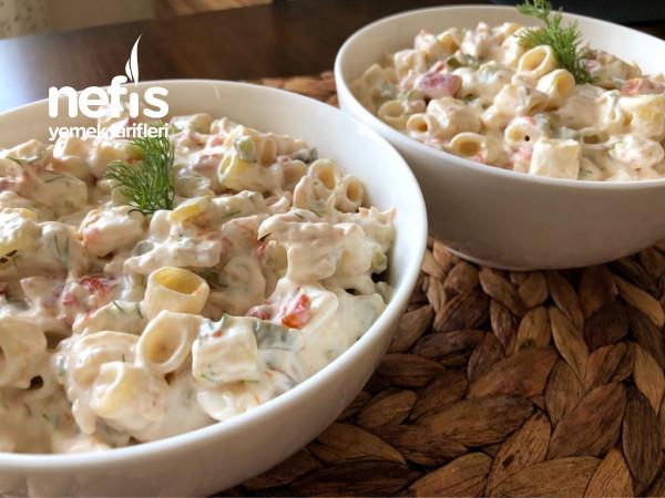 Biz Bu Lezzete Bayılıyoruz-tavuklu Makarna Salatası Tarifi