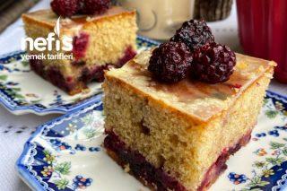 Böğürtlenli Kremalı Kek Tarifi