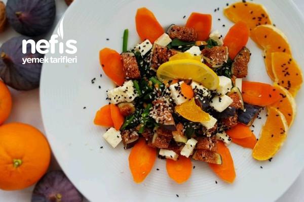 İncirli Ispanak Salatası (Videolu) Tarifi