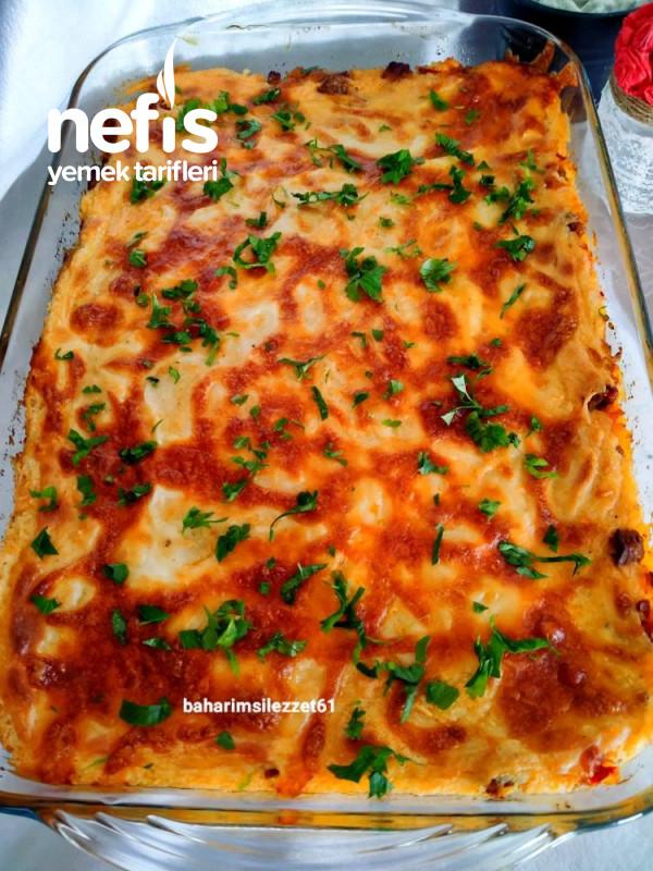 Patlıcanlı Püreli Kebap kat Kat Nefis Lezzet