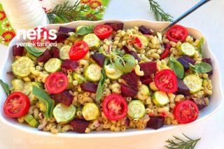Kabaklı Pancarlı Makarna Salatası Tarifi