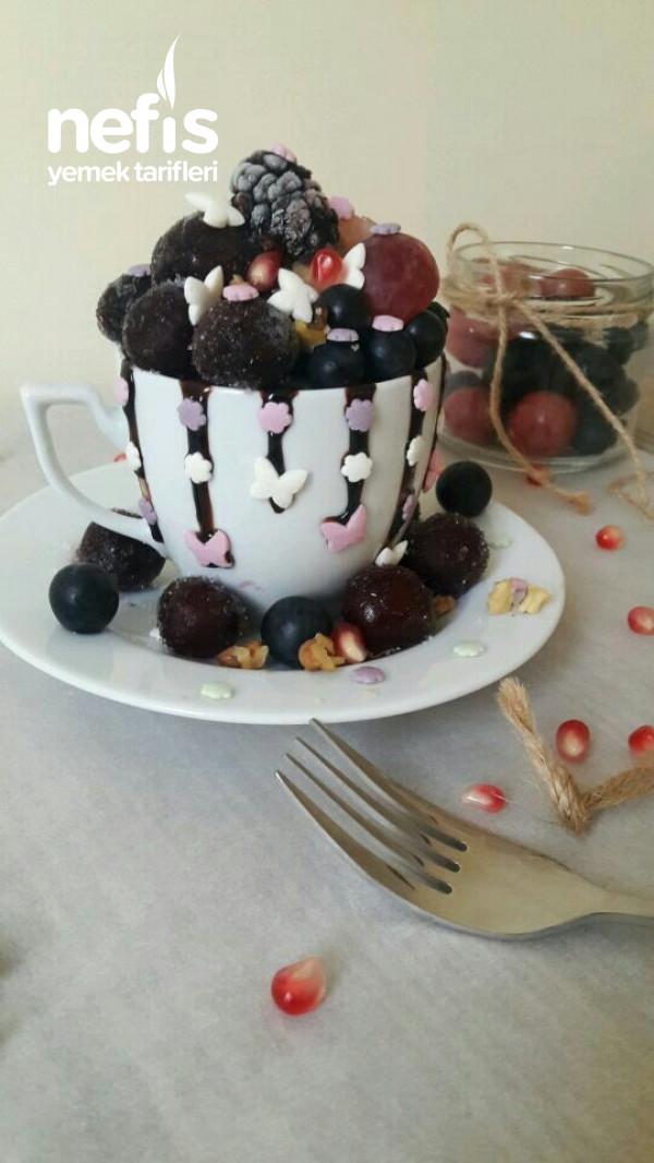 Teremyağlı Tahinli Kakaolu Fincanda Kek