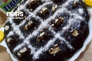 Teremyağlı Karamelli Bitter Çikolatalı Islak Kek Tarifi