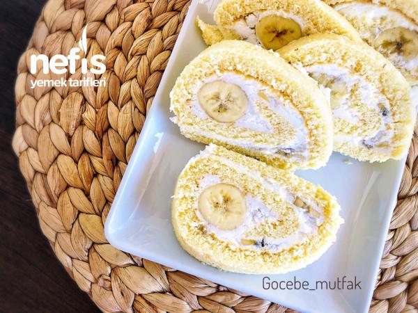 8-9 Dk Da Pişen Yumuşacık Kekiyle Az Malzemeli Kolay Rulo Pasta