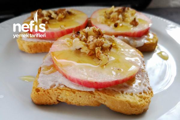 Elmalı Tarçınlı Labneli Kıtır Etimek