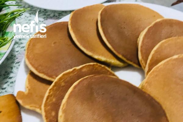 Tam Buğday Unlu ,Bol Yumurtalı Leziz Pancake Tarifi
