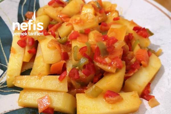 Hafif Tavada Zeytinyağlı Patates Tarifi