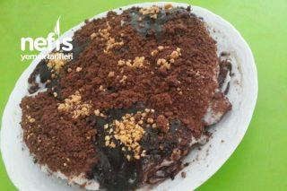 Teremyağlı Bisküvi Tabanlı Muhallebili Pasta (Pişirme Derdi Yok) Tarifi