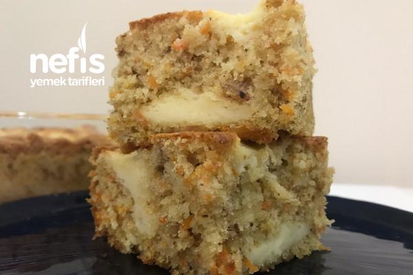 Labneli Havuçlu Tarçınlı kek Tarifi