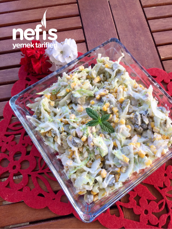 Çok Hafif Ve Çok Lezzetli Göbek Salatası