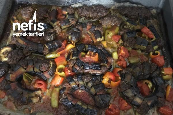 Fırında Köfteli Patlıcan Tarifi