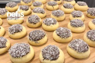 Lokmalık Kurabiye Çikolatalı Ve Hindistan Cevizli Tarifi