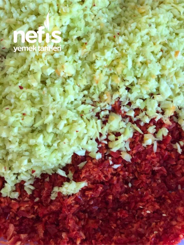 Taze Sebzelerden Kışa Lahmacun/Pide İçi/Antep Ezme İçi