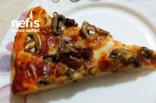 Bol Mantarlı Pizza Tarifi
