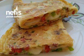 Börek Tadında Sebzeli Omlet Tarifi