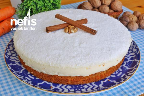 Enfes Kremalı Havuçlu Tarçınlı Cevizli Kek