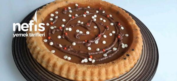 Karamelli Damla Cikolatali Tart Kek