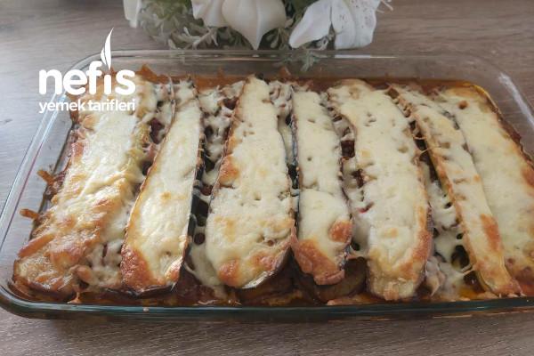 Patlıcanlı Kıymalı Lazanya Tarifi
