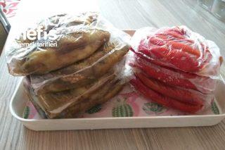 Buzluk İçin Közlenmiş Patlıcan Ve Kozlenmiş Kapya Biber Tarifi