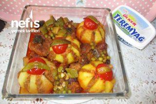 Teremyağlı Köfteli Kasımpatı Şekilli Patates Yemeği Tarifi