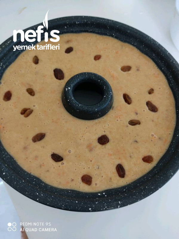 Vitamin Deposu Kek (Cevizli Havuçlu Kuru Üzümlü Ve Tarçın)