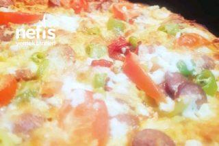 Teremyagli Mantarlı Pizza Tarifi