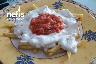 Kahvaltılık Domates Soslu Yoğurtlu Patates Kızartması Tarifi