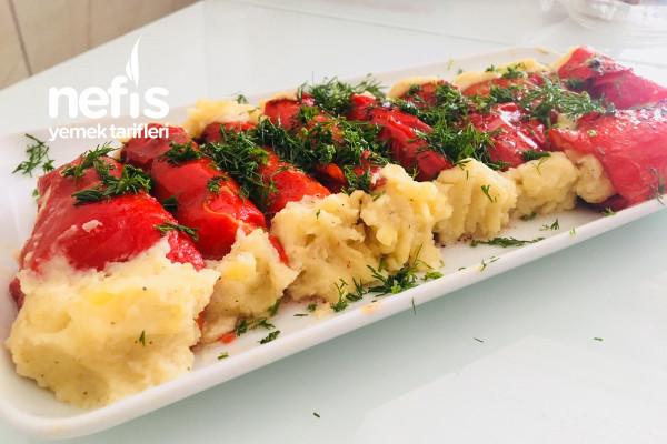 Patates Püreli Kırmızı Biber Sarması Tarifi