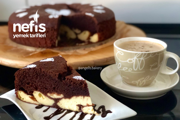 Cheesecake Dolgulu Brownie Kek Tarifi