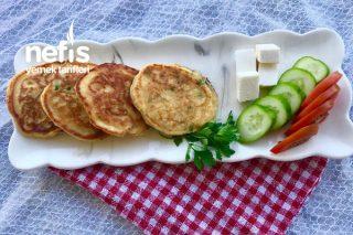 Enfes Peynirli Maydonozlu Pankek (Kaşık Dökme) Tarifi