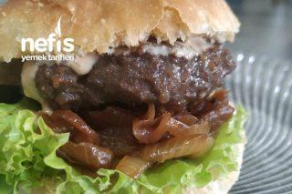 Özel Sosu, Özel Ekmeği, Şeker İlavesiz Karamelize Soğanı İle Hamburger Tarifi