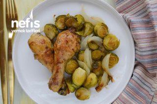 Baharatlı Tavuk But Ve Fırında Brüksel Lahanası Tarifi