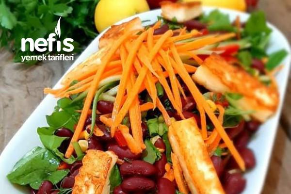 Meksika Fasulyesi Salatası (Rokalı) Tarifi