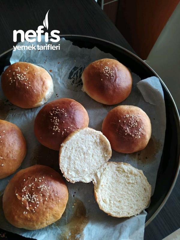 Hamburger Ekmeği Ve Köftesi