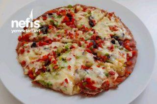 Lavaş Ekmeğinden Pizza (Videolu) Tarifi