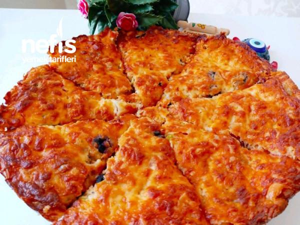 5 Dakikada Hamur Yoğurmadan Yufka Almadan En Pratik Pizza