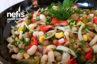 Çok Lezzetli Kuru Fasulye Salatası Tarifi