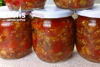 Kırmızı Biber Ve Patlıcan Sosu ️ Tarifi