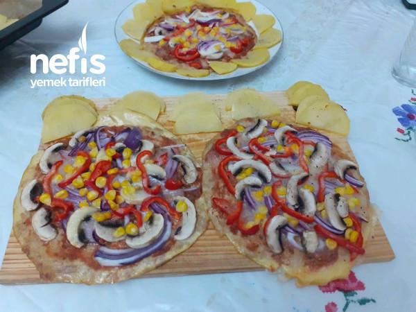 Ton Balikli Pizza(isterseniz diyette her gün yiyebilirsiniz)