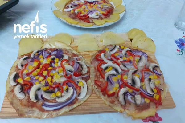 Ton Balıklı Pizza (İsterseniz Diyette Her Gün Yiyebilirsiniz) Tarifi