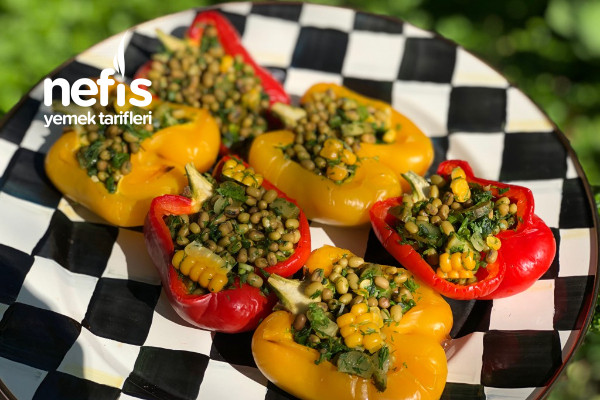 Köz Biberli Maş Fasulye Salatası Tarifi