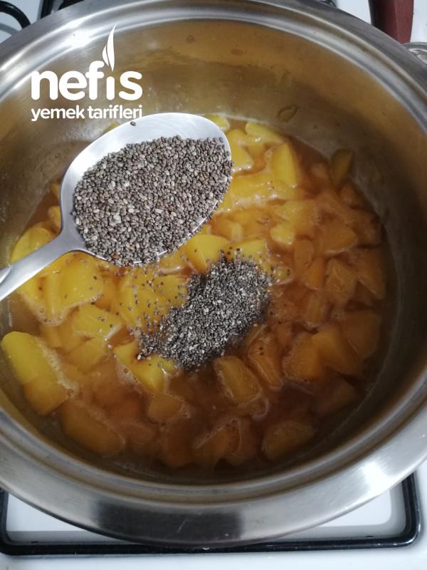 Şekersiz Şeftali Reçeli (Chia Tohumu İle)