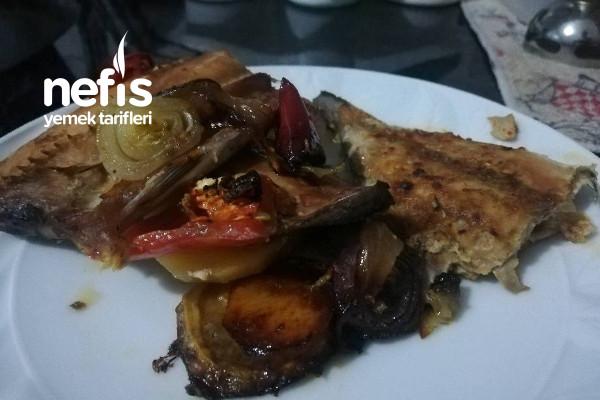 Fırında Sebzelı Palamut Tarifi