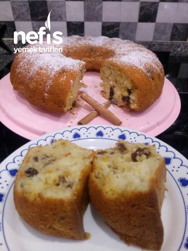 Üzümlü Cevizli Havuçlu Tarçınlı Kek (Pratik Ve Leziz)