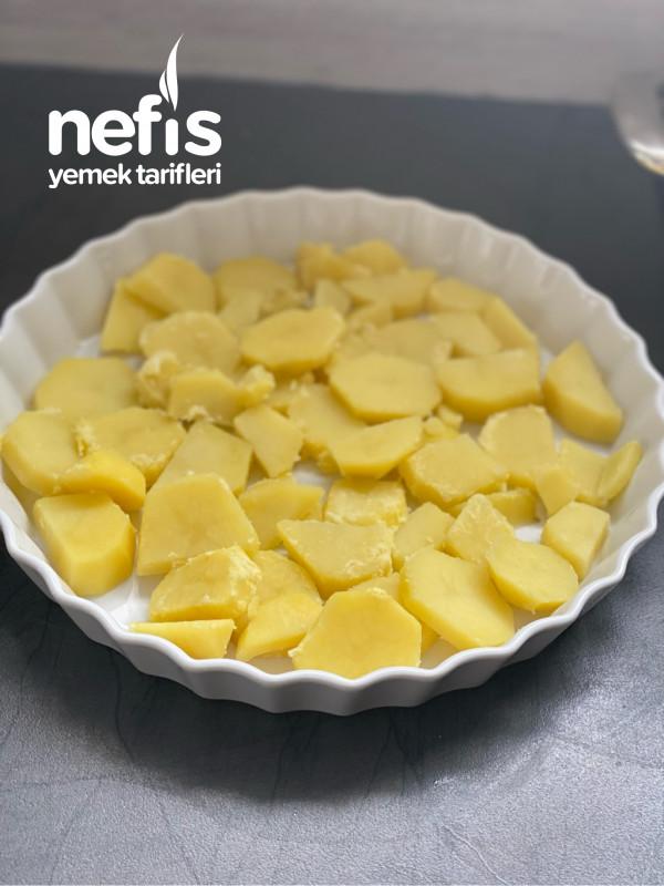 Ispanaklı, Patatesli Graten