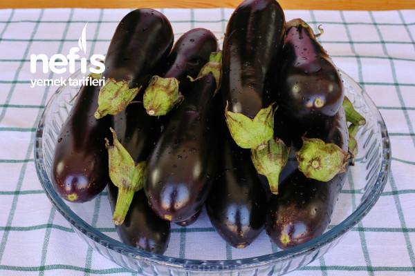Buzlukta Sağlıklı Kışlık Karnıyarık Patlıcan