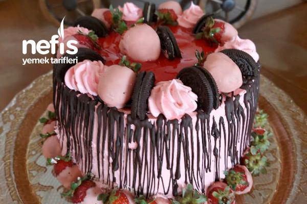 Çilekli Pasta Sizde Evinizde Kendi Pastalarınızı Hazırlayabilirsiniz Tarifi